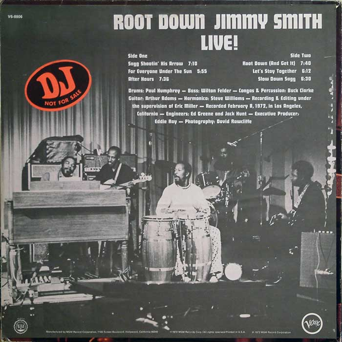 Incredible Jimmy Smith The Featuring Kenny Burrell And Grady Tate Organ Grinder Swing